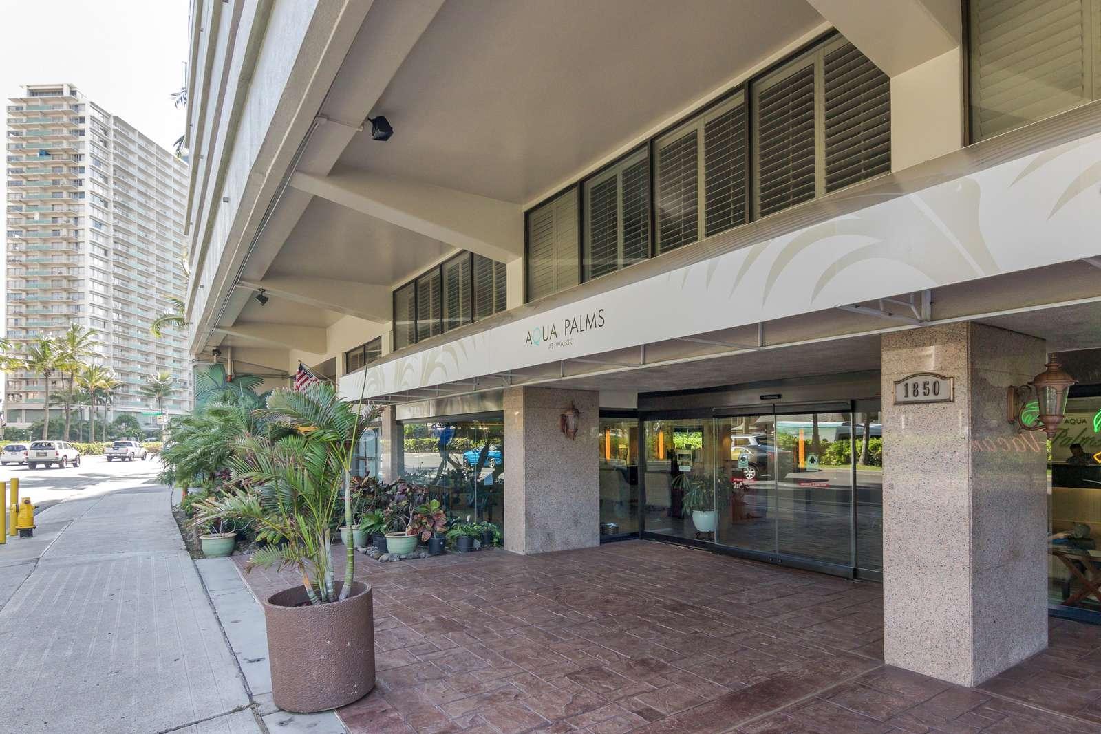 Lobby entrance & IHOP