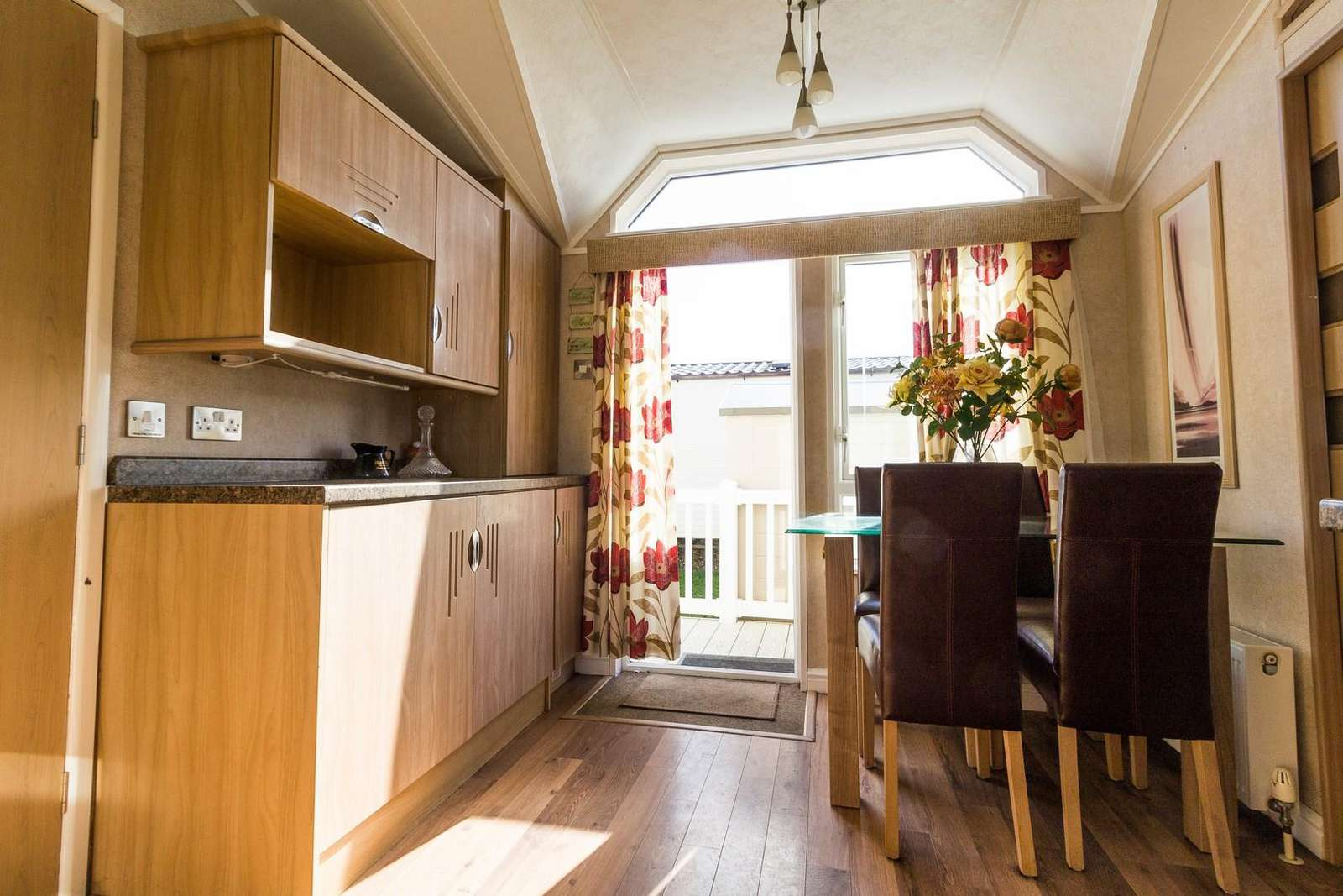 Great kitchen area in this spacious holiday home in Suffolk.