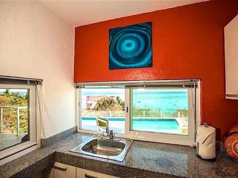 Kitchen Pool View