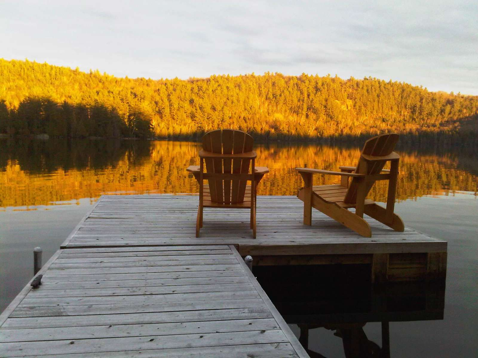 Incredible fall afternoon from the dock