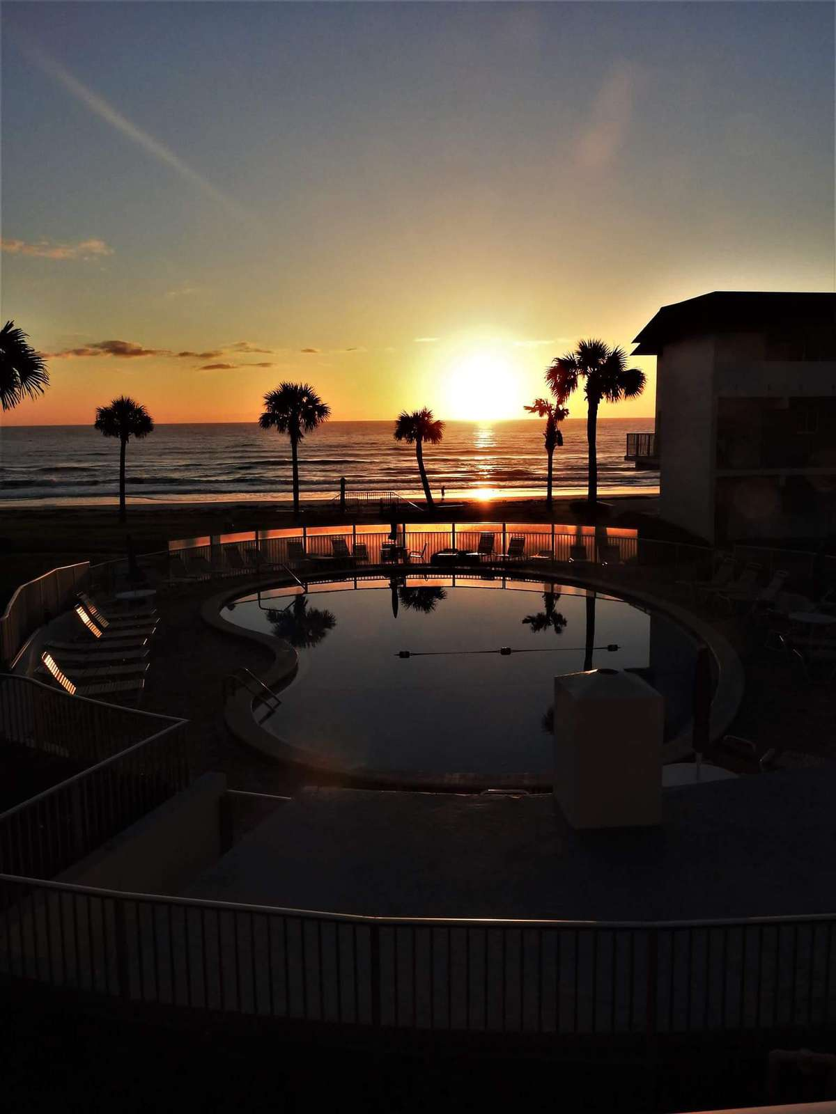 Morning Sunrise on the balcony - property