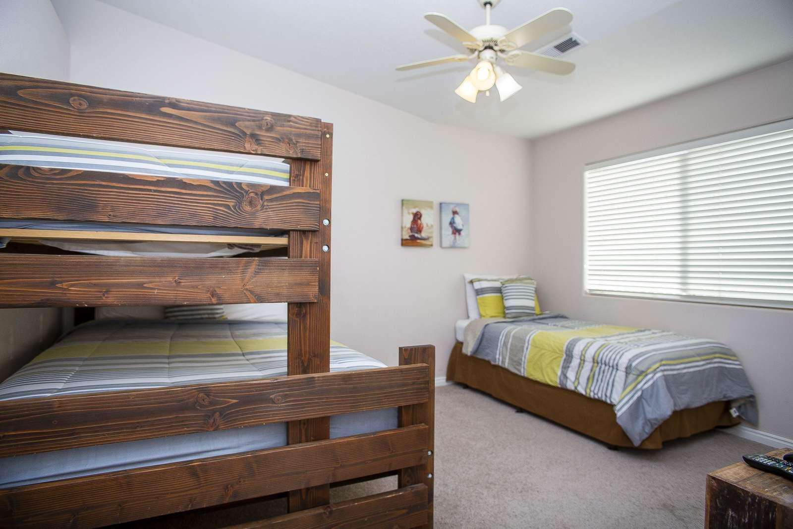 Bedroom 3 - Full + 2 Twin
