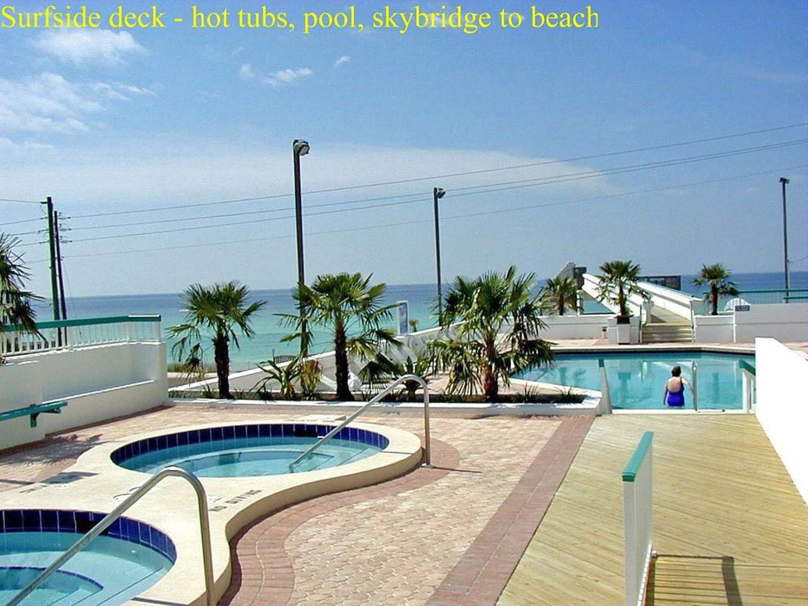 TWO HOT TUBS ON POOL DECK