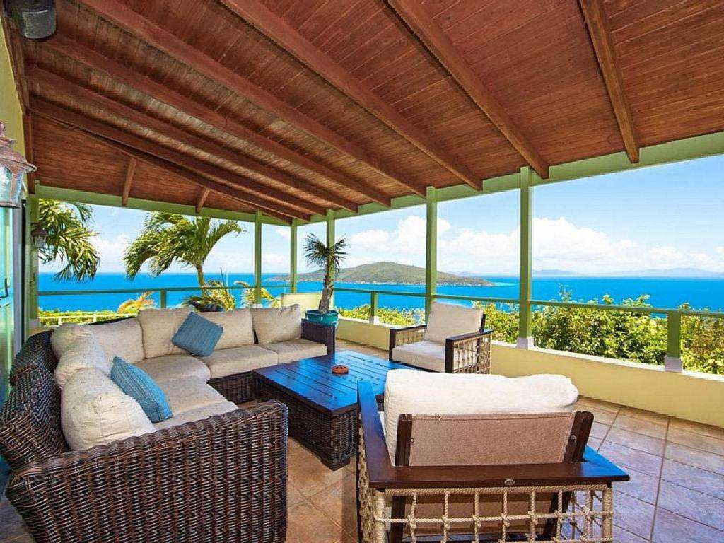 Expansive Views Seated Comfortably Under Covered Patio