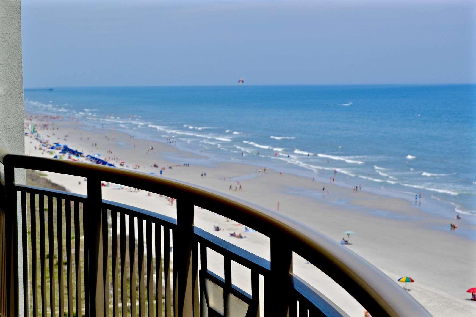 Oversized balcony, coastal views
