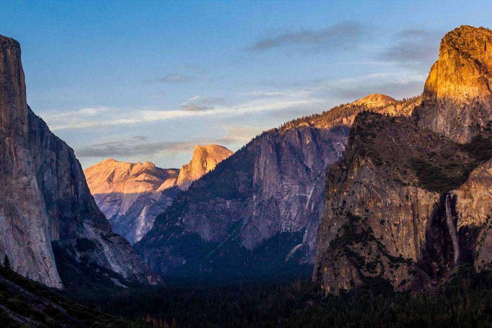 Tunnel view of Yosemite Valley.