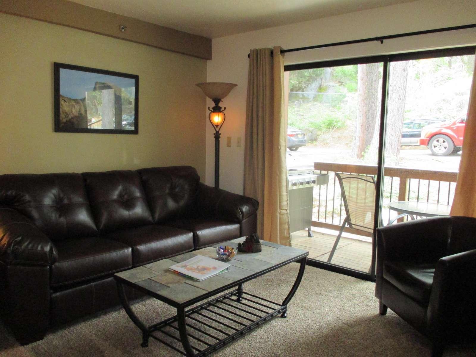 Living area and balcony.