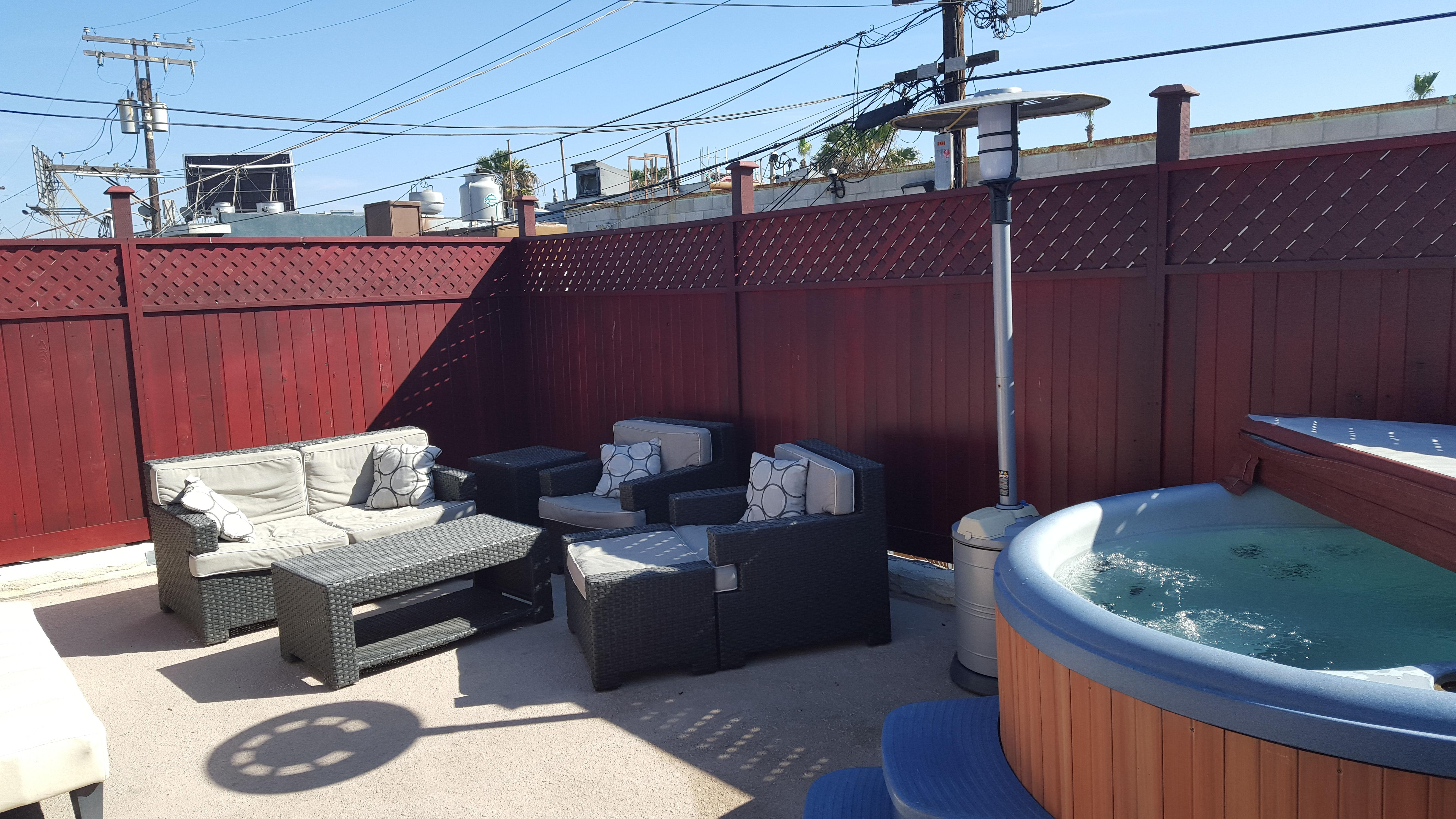 Jacuzzi deck and Patio Furniture