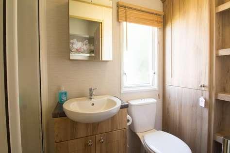 Spacious bathroom at Hopton Holiday Village