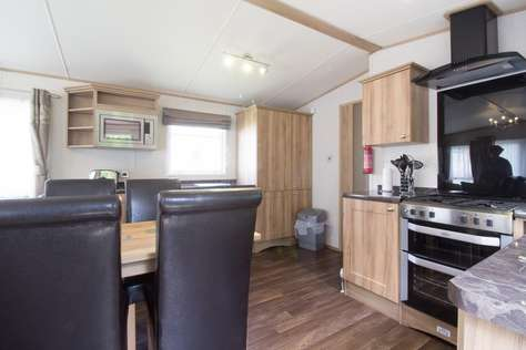 Caravan for hire with double glazing and central heating making this Holiday home comfortable and home from home