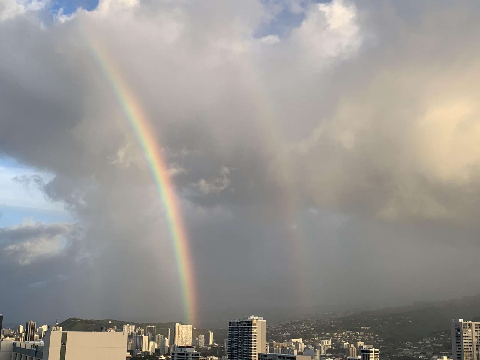 Incredible Rainbow Views from the Lanai!  Double Rainbows!