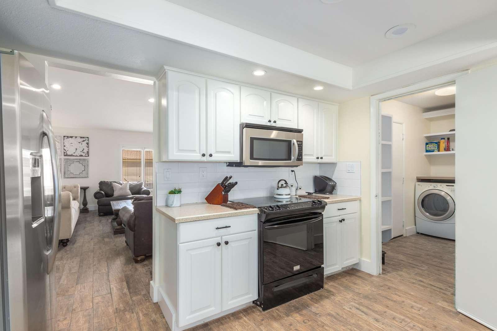 Nice bright updated kitchen.