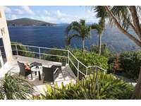 Private Patio off fifth bedroom suite ... be sure to watch for whales in the early Spring! thumb