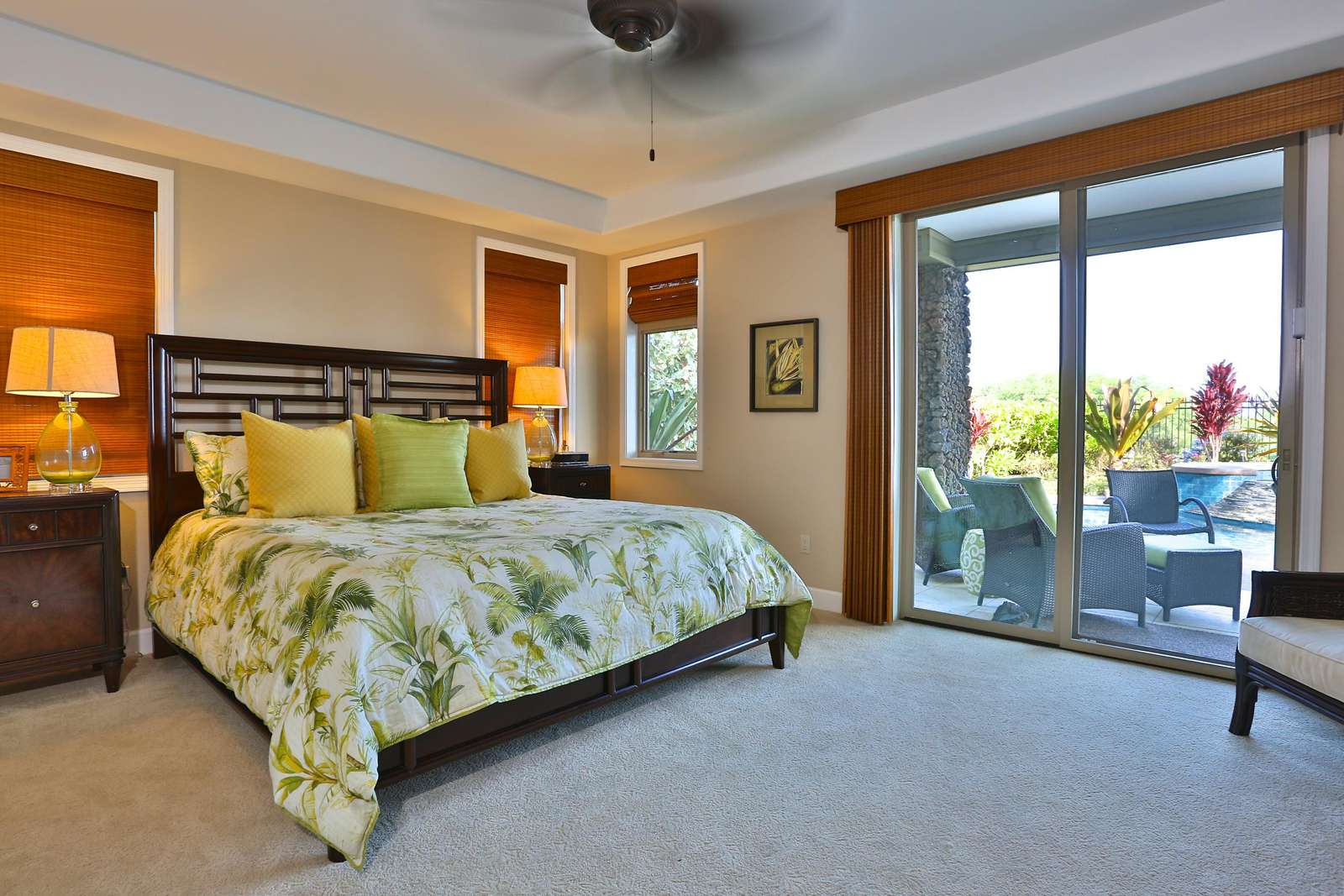 Master bedroom opens up onto the pool