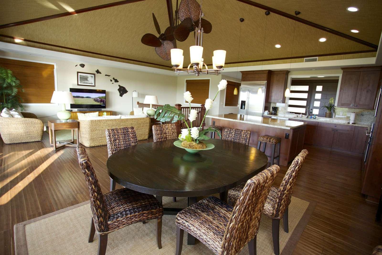 Inside dining area seats six