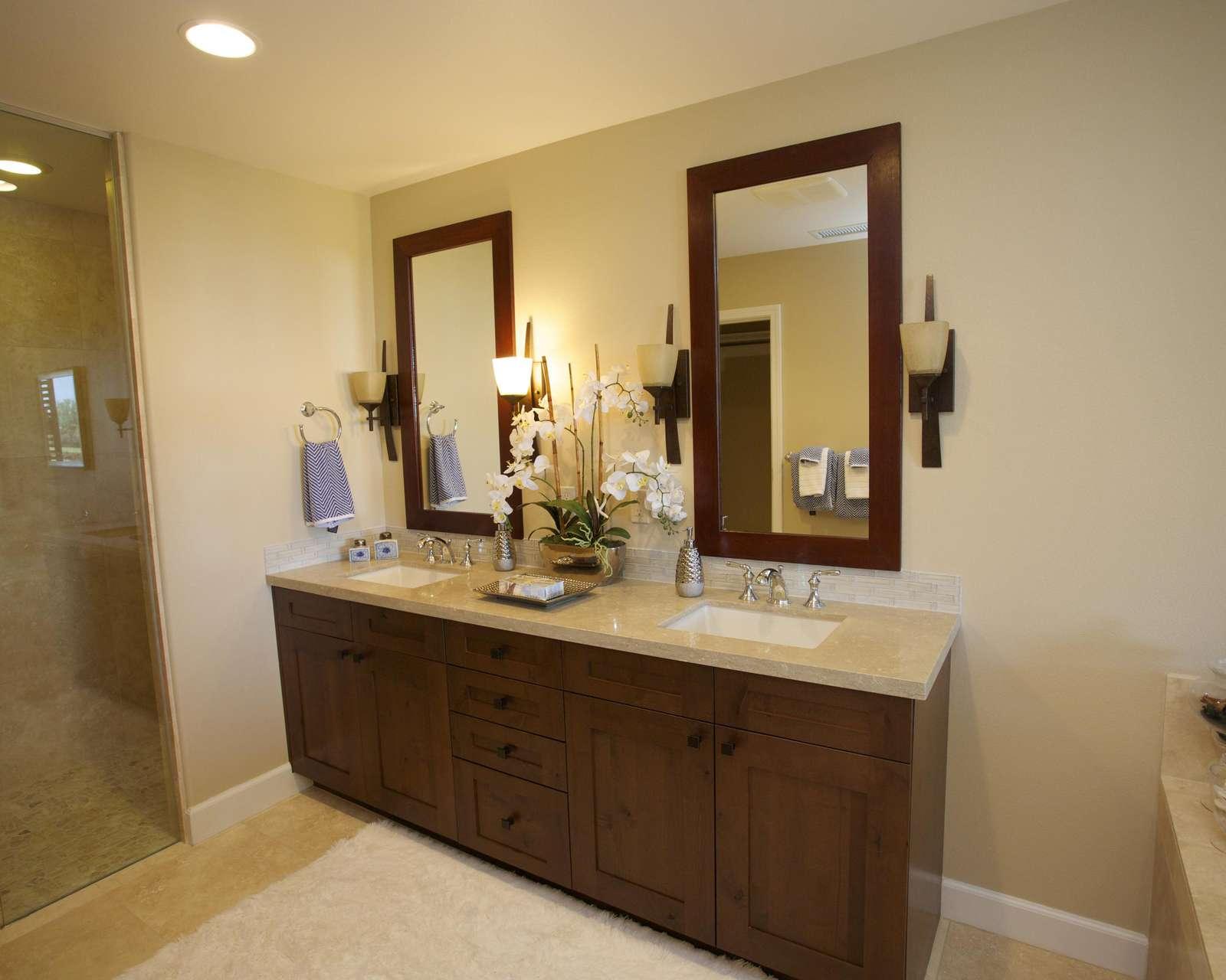 Master bedroom ensuite double vanity