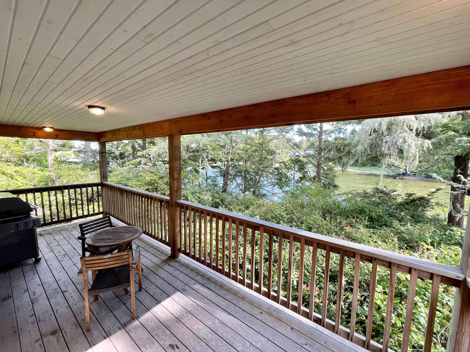 Large waterfront deck with BBQ - property