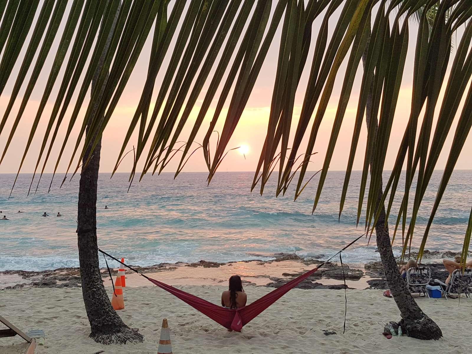White Sands Beach at Sunset