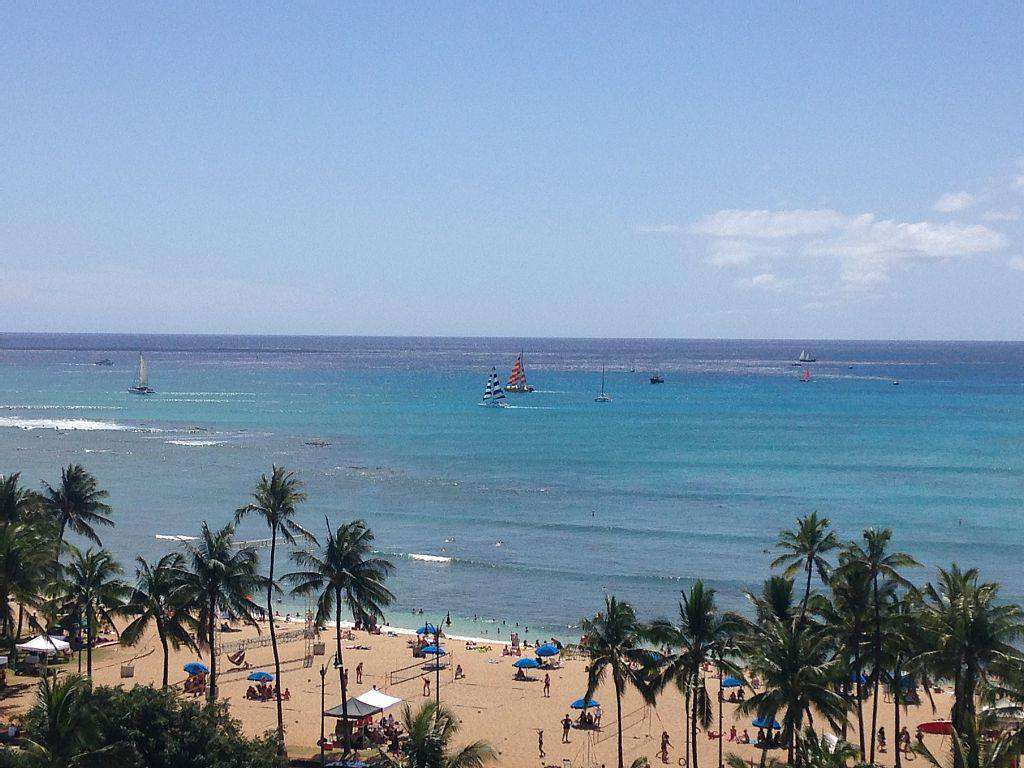 Waikiki Beach is right out the hotel