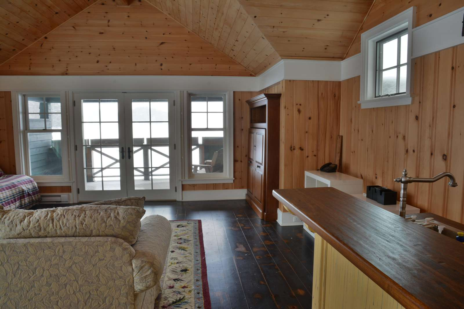Old Boathouse Interior (new furnishings for 2017)