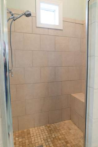 One of the shower areas