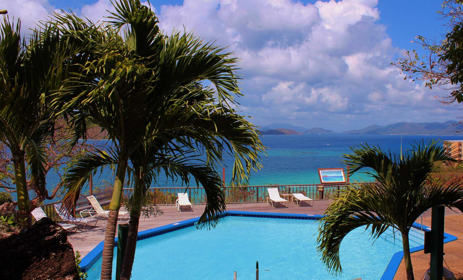 Terrace Pools with Views to the BVI