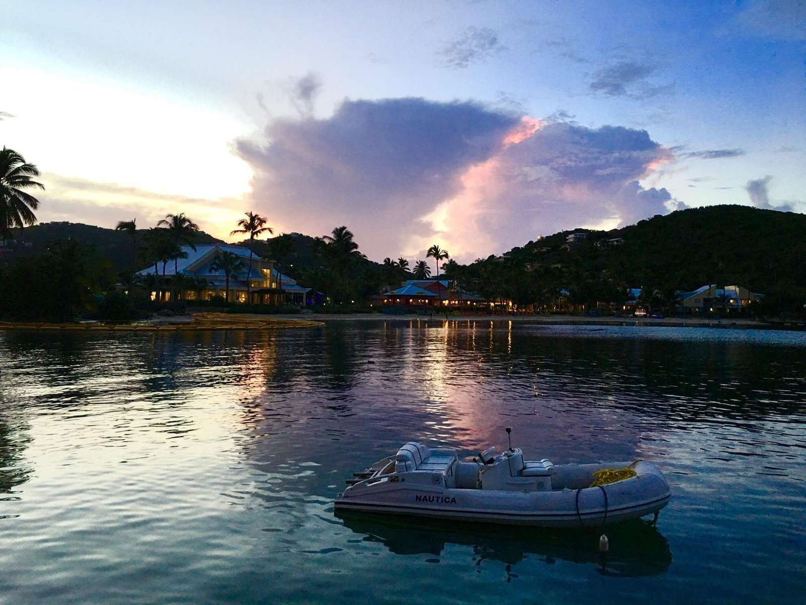 Sunset Reflections at Shoreline Bar & Grille
