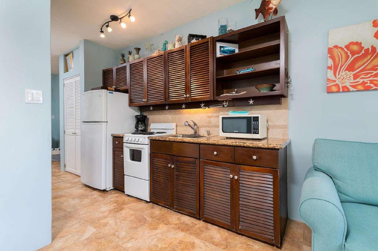 Mahogany Cabinets and Granite Counters