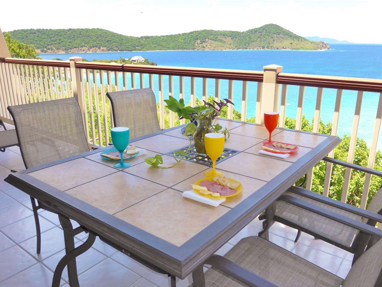 Dining and Drinks on the Balcony