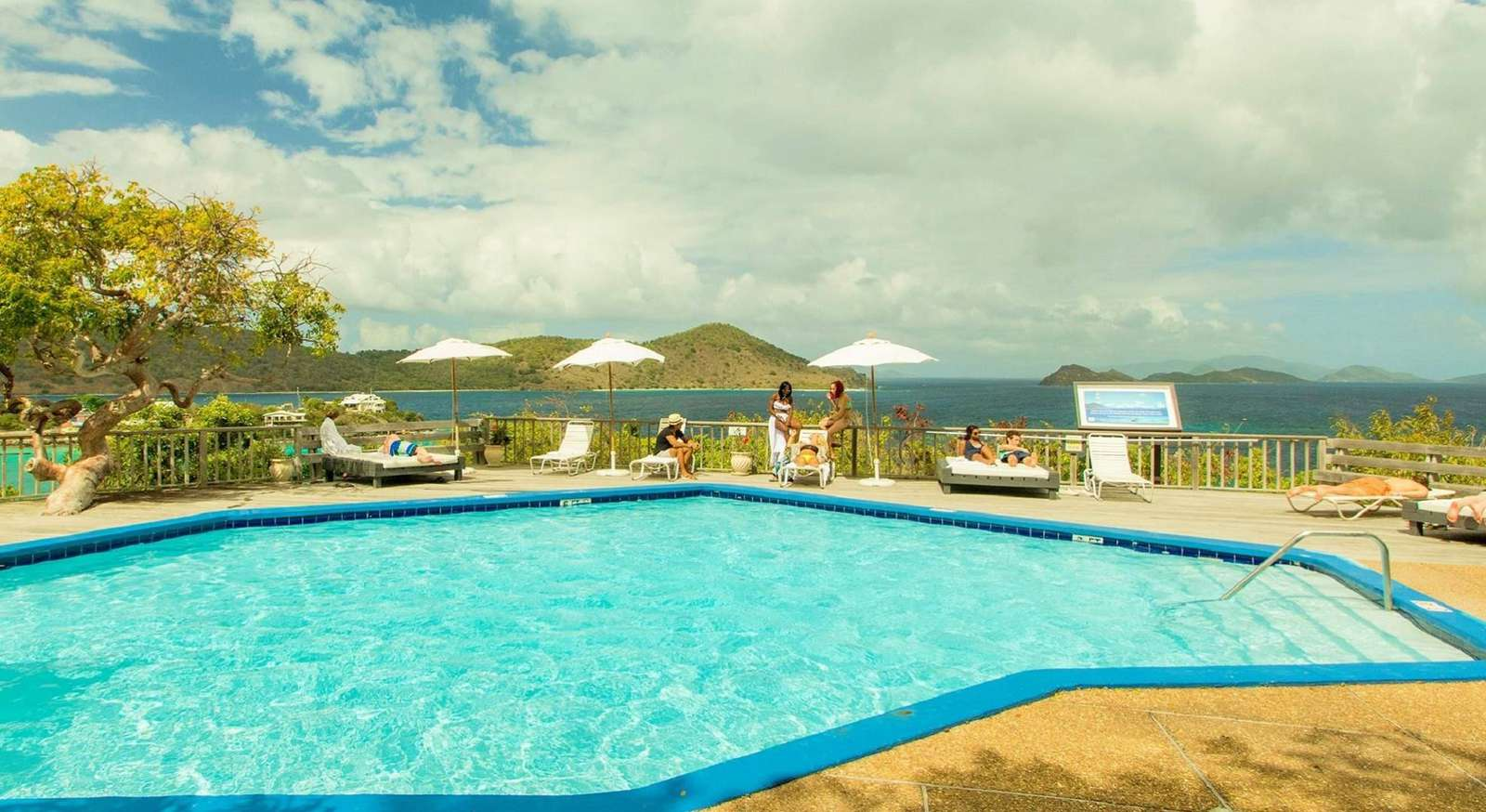 Terrace Pool with Views to St. John and the BVI
