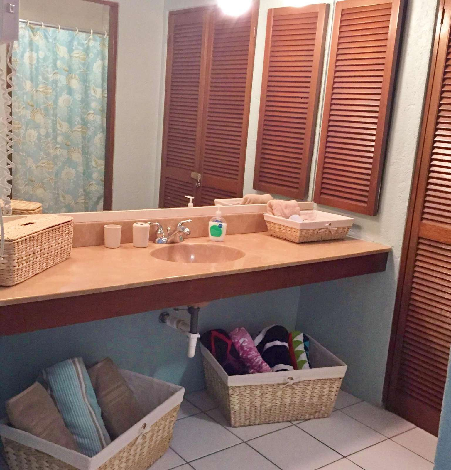 Spacious vanity in Queen Sized Bedroom with Private Shower