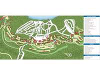 Mountain Top Map with key locations and facilities. Mountain Lodge is in the heart of all action. Enjoy your adventure. thumb
