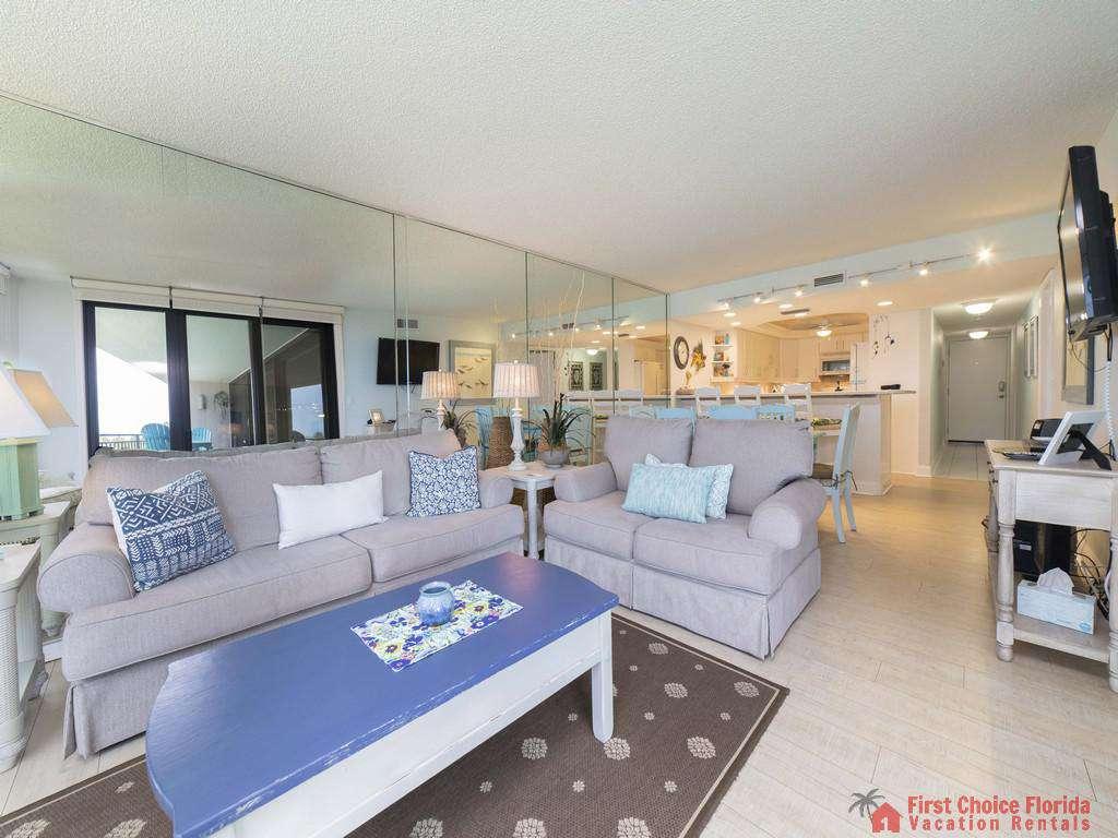 Anastasia Condo 303 Living Room to Kitchen