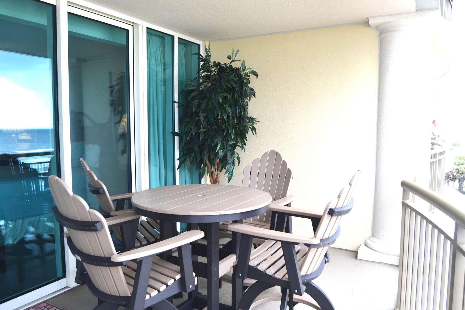 Upgraded patio furishings