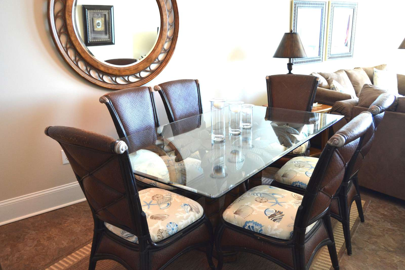 Spacious dining area