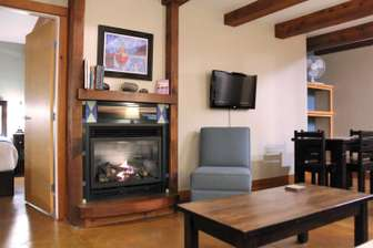 Living area with gas fireplace thumb
