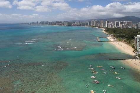 Waikiki beach with numerous cool reefs to explore