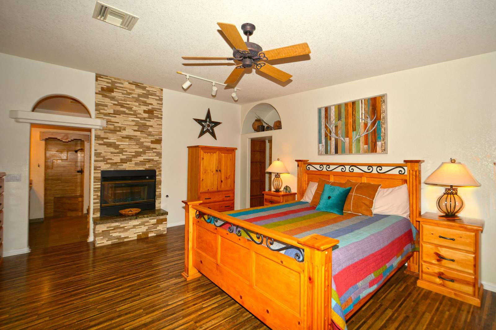 Large master bed