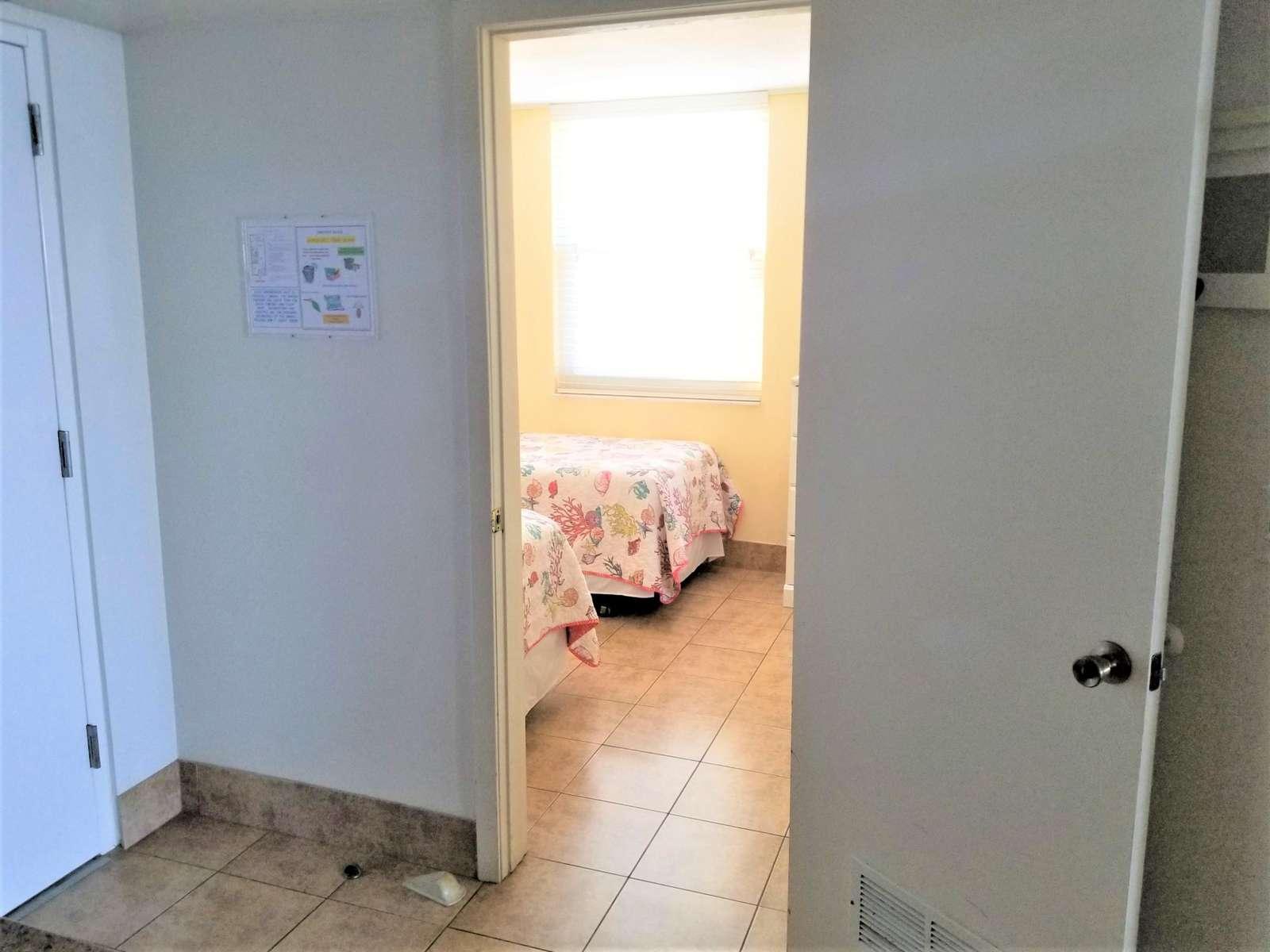 Privacy door for guest bedroom
