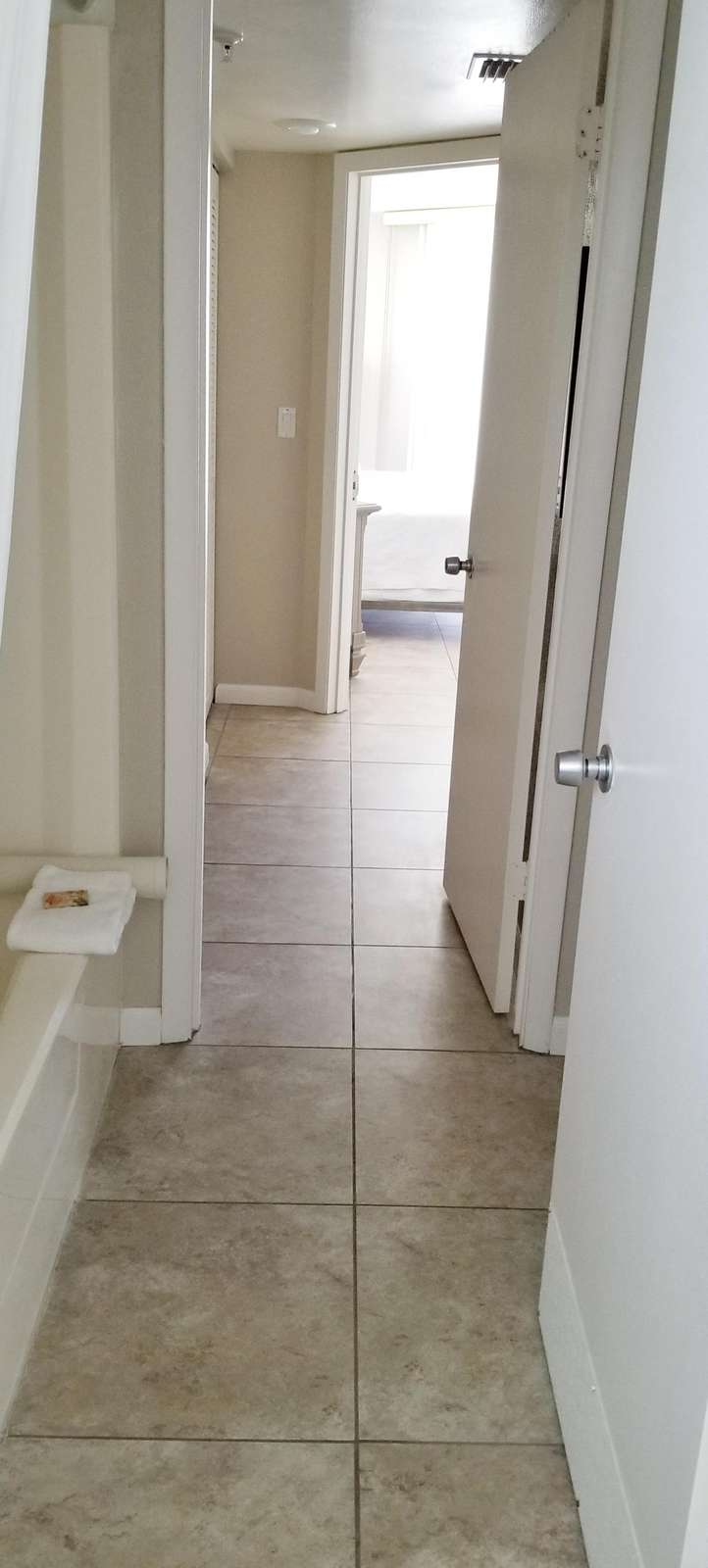Hall thru bathrooms