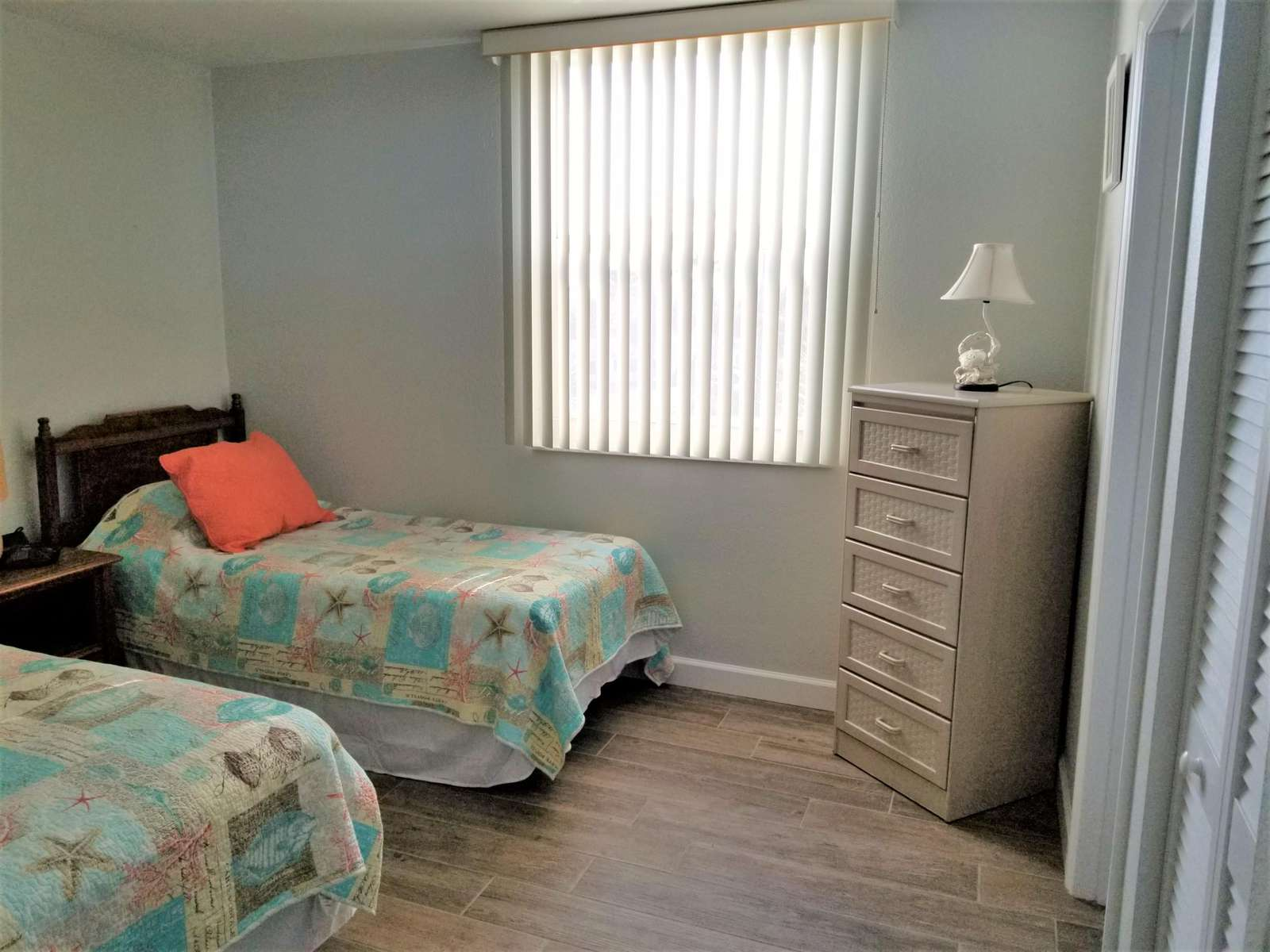 View into guest bedroom