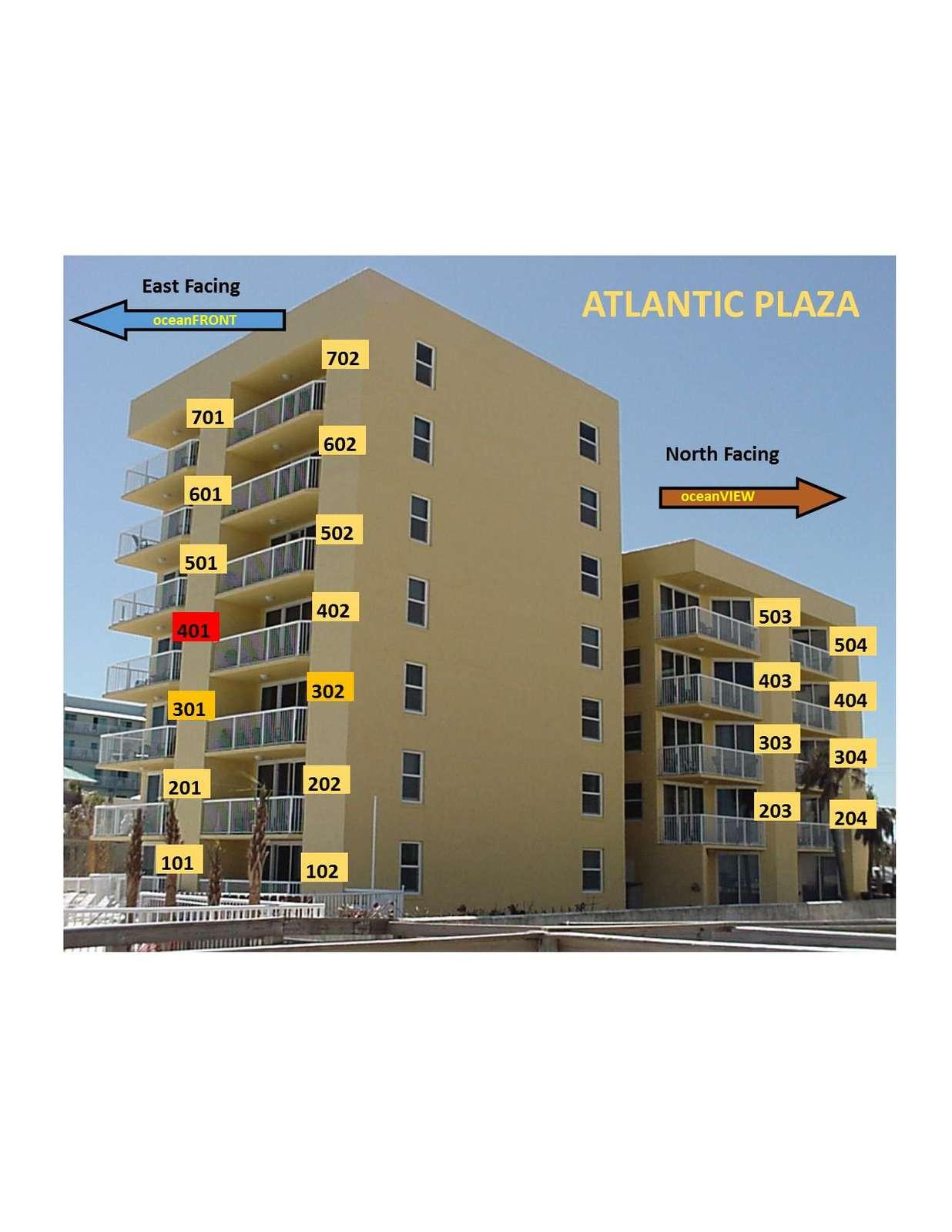 OceanFRONT unit 401 4th floor
