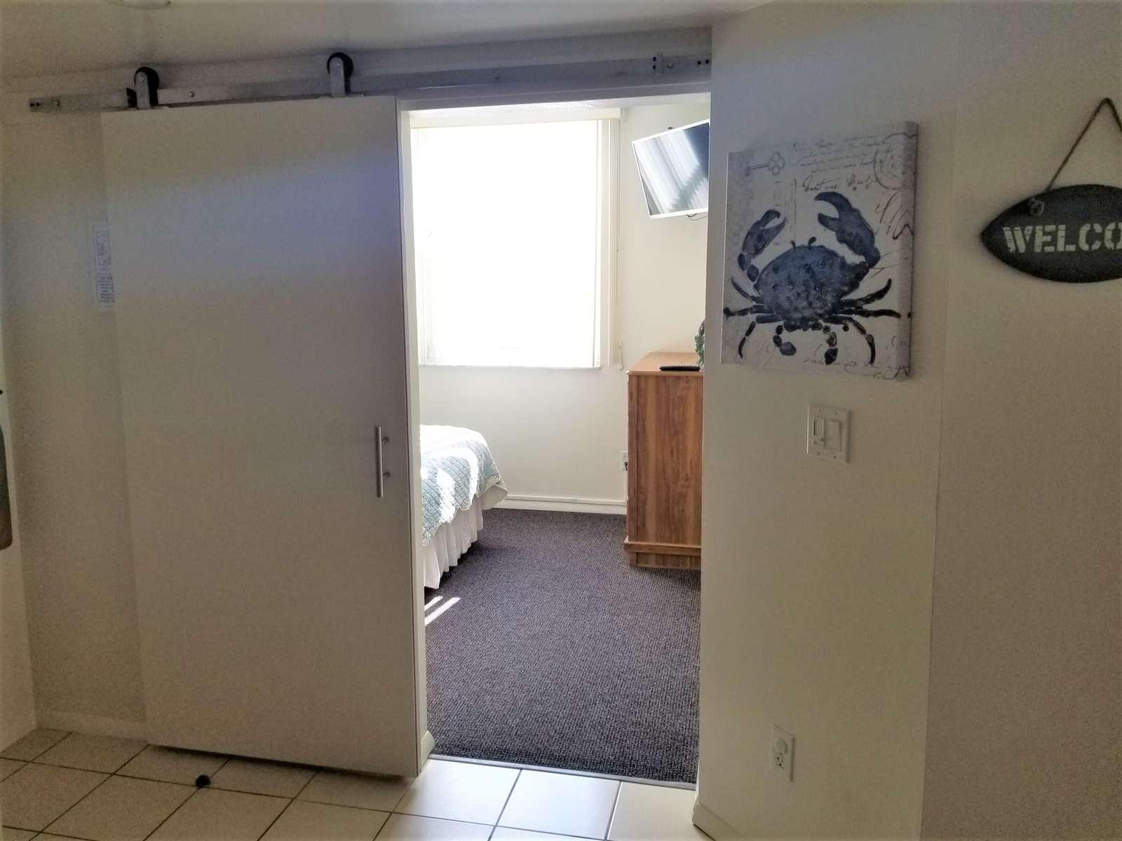 Privacy door guest bedroom