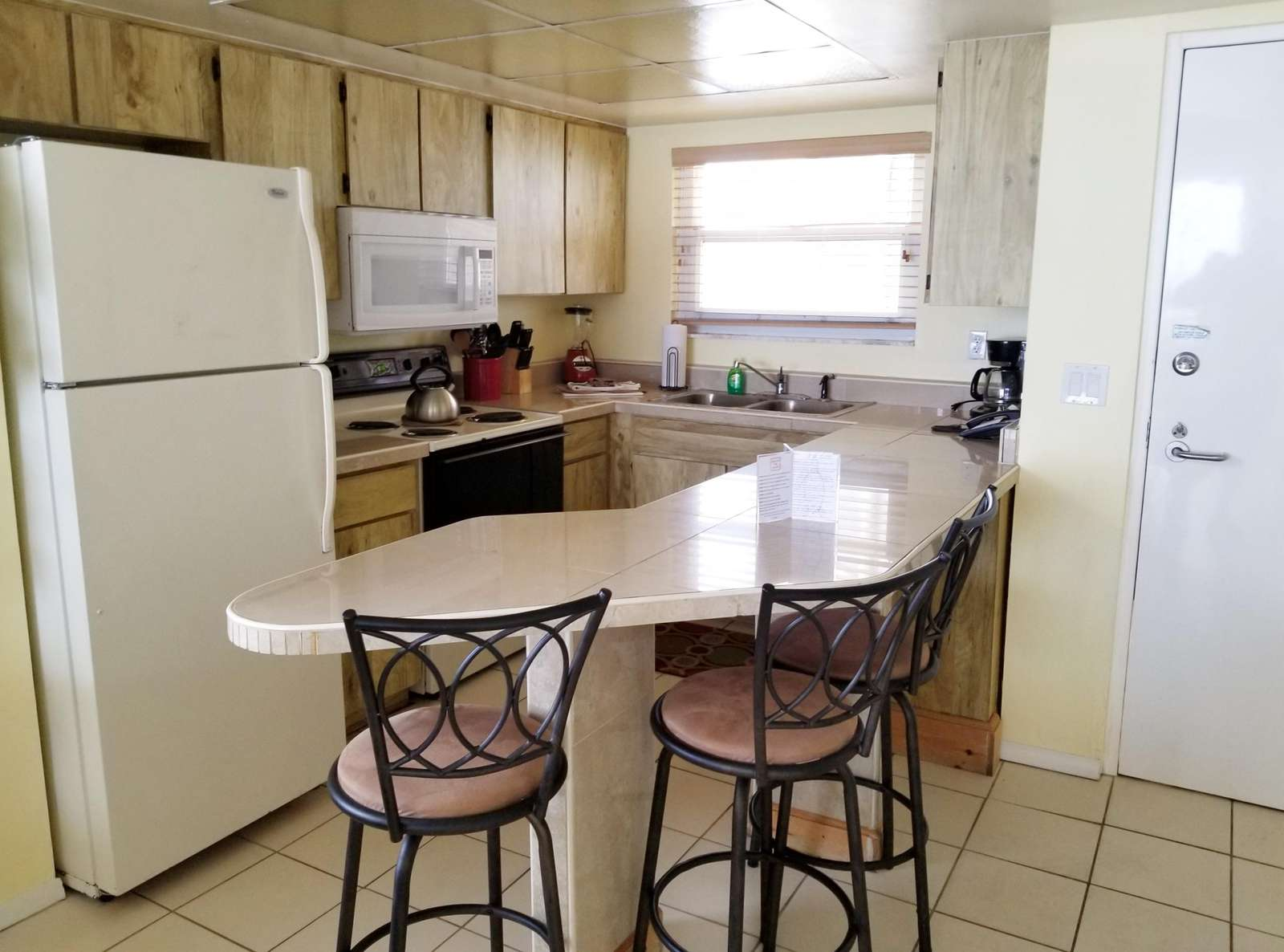 Kitchen from dining area