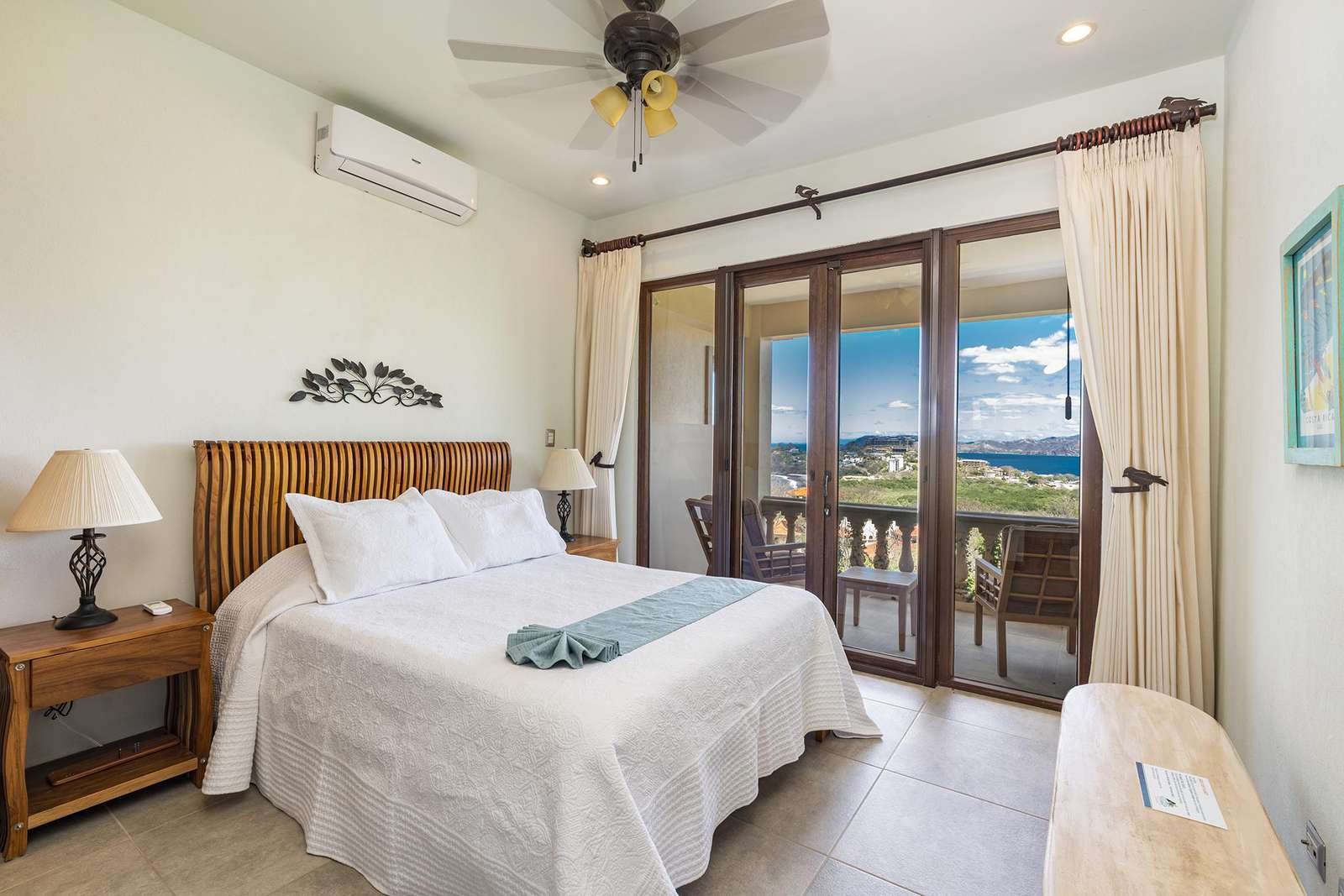 Guest bedroom, private full bathroom, access to private balcony with ocean views