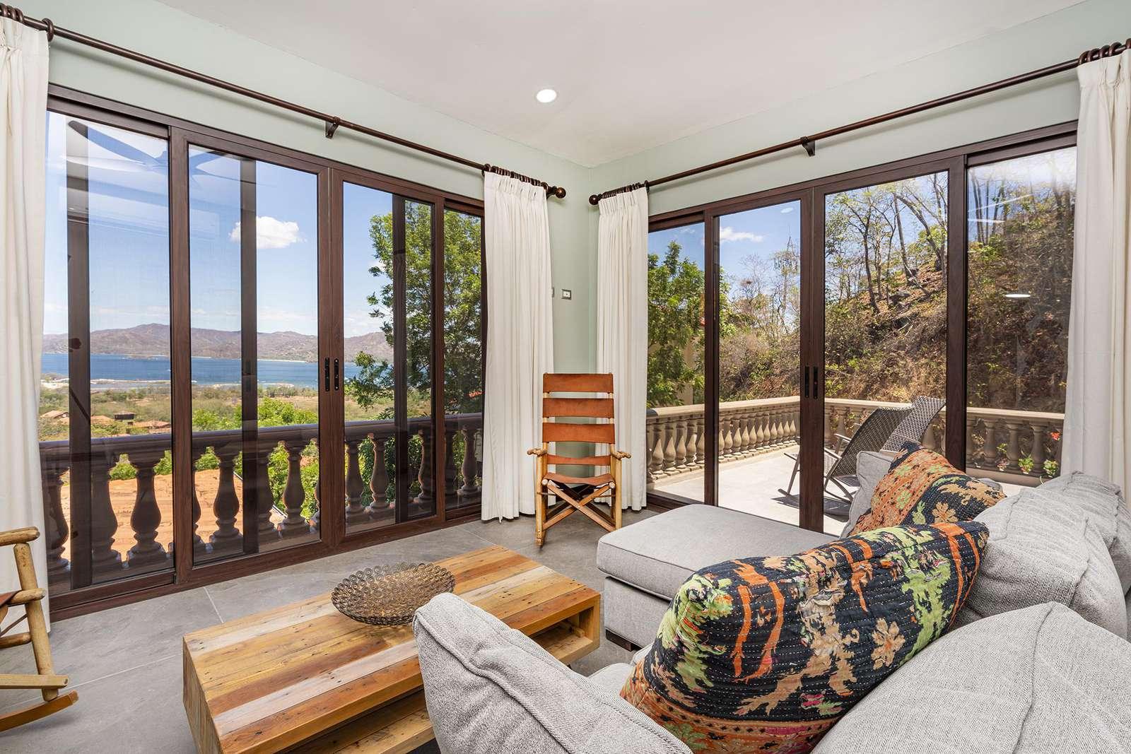 Upstairs 4th bedroom, sleeper sofa, ocean views, private terrace