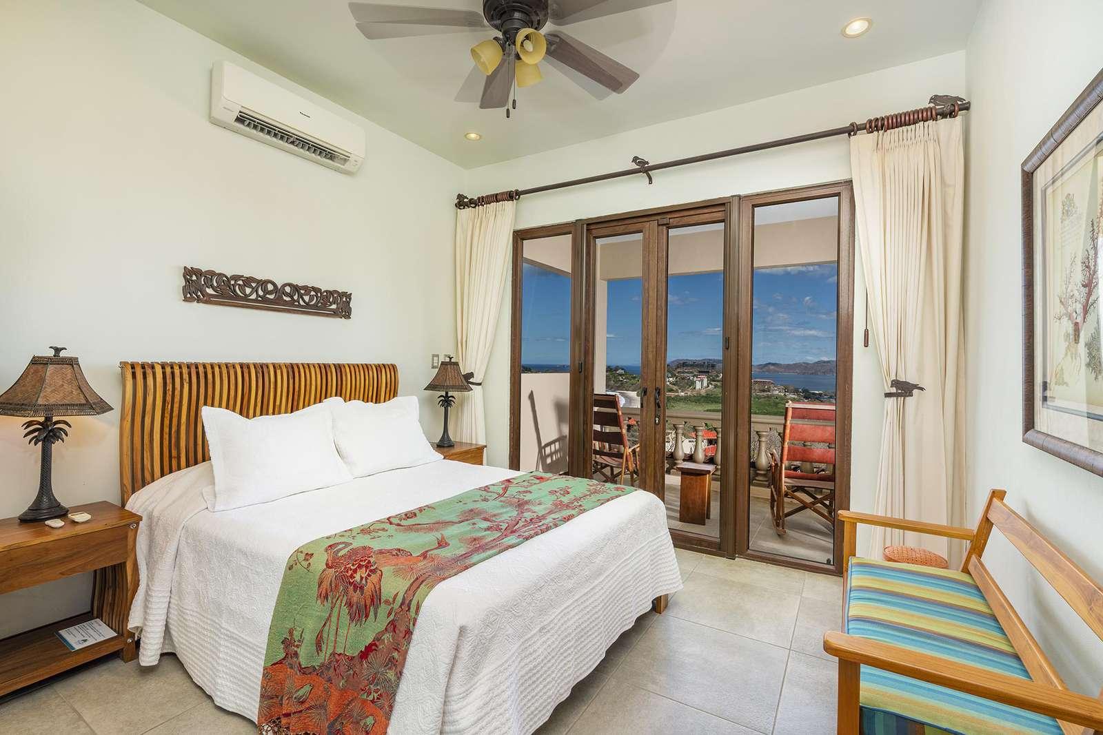 Guest bedroom, Queen bed, private bathroom, private terrace, ocean views