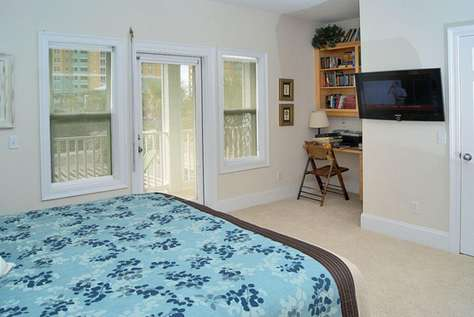 Master Bedroom with King Bed - TV