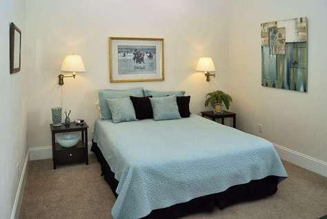 First Floor Guest Bedroom with Queen Bed