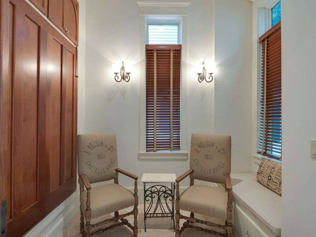 Private seating nook
